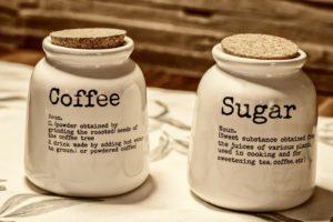 Kaffee und Zucker Dose