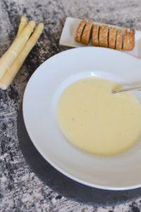Spargel-Pastinaken-Cremesuppe
