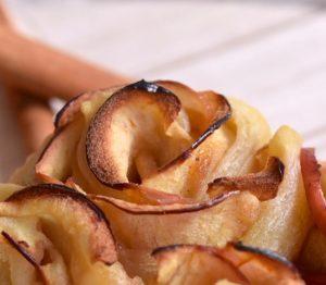 Apfelrosen Strauß von dichtem